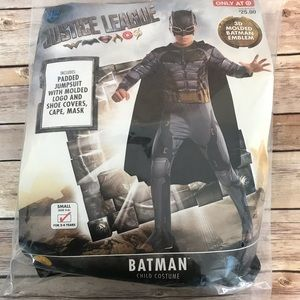 NWT Justice League Batman Costume Small 4-6